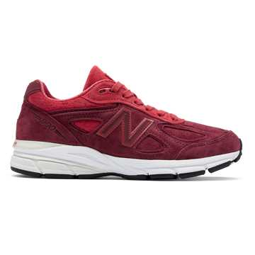 New Balance Womens 990v4 Made in US, Vortex with Mercury Red