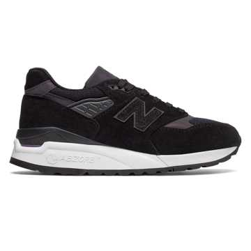 New Balance 998 Northern Lights, Black with White