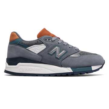 New Balance 998 Made in USA, Steel with Typhoon