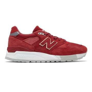 New Balance 998 Made in US, Red with White