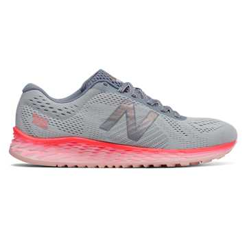 New Balance Fresh Foam Arishi, Light Grey with Vivid Coral & Sunrise