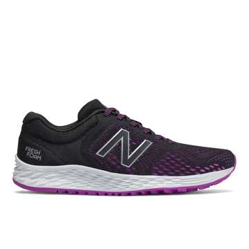 New Balance Fresh Foam Arishi v2, Black with Voltage Violet & Silver Metallic