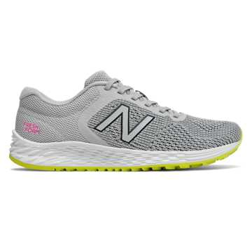 New Balance Fresh Foam Arishi v2, Light Aluminum with White & Sulphur Yellow