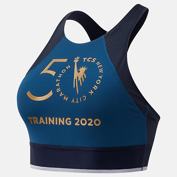New Balance NYC Marathon Q Speed Bra Top, WB03269MRGV