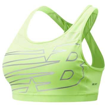 New Balance NB Pulse Bra, Bleached Lime Glo