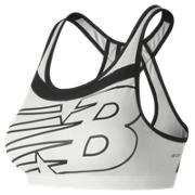 NB NB Pulse Bra, White with Black