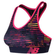 NB NB Pace Printed Bra, Striped Velocity