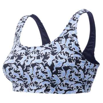 New Balance J.Crew Premium Performance Printed Scoop Bra, Drakes Jaguar Print with Bayside