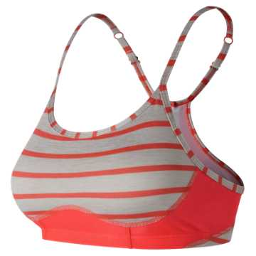 New Balance Printed NB Hero Bra, Flame