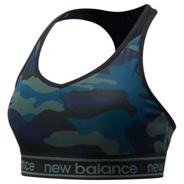 New Balance NB Pace Bra Printed 2.0, Faded Rosin