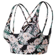 NB Printed Evolve Strappy Bra, Black Multi