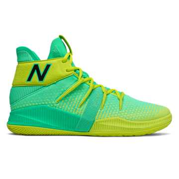 New Balance Womens OMN1S, Neon Emerald with Sulphur Yellow