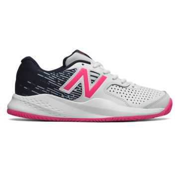 New Balance New Balance 696v3, White with Alpha Pink & Pigment