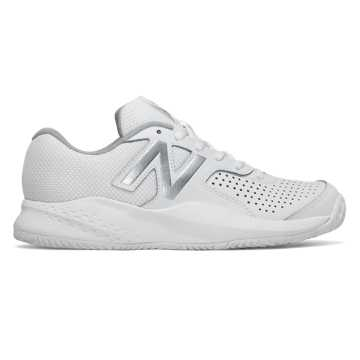 New Balance 696v3, White with Silver