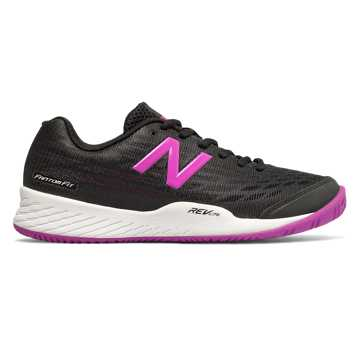 New Balance 896v2, Black with Voltage Violet