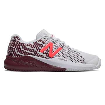 New Balance 996v3, White with Oxblood