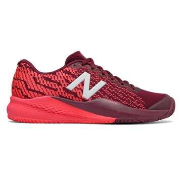 New Balance 996v3, Oxblood with Vivid Coral