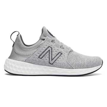 New Balance Womens Fresh Foam Cruz Retro Hoodie, Silver Mink