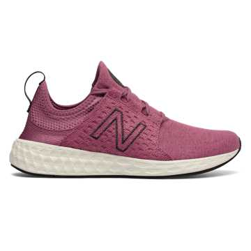 New Balance Womens Fresh Foam Cruz Retro Hoodie, Dragon Fruit with Sea Salt