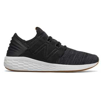 New Balance Women's Fresh Foam Cruz v2 Knit, Black with Magnet