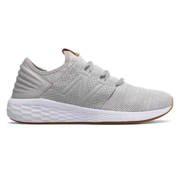 86b5f88aada9f New Balance Women's Fresh Foam Cruz v2 Knit, Rain Cloud with White Munsell