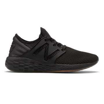 New Balance Women's Fresh Foam Cruz v2 Falcon, Black with White Munsell