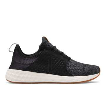 New Balance Fresh Foam Cruzv1 Reissue, Black with Magnet & Sea Salt