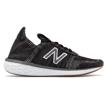 New Balance Women's Fresh Foam Cruz v2 Sock Made in US, Black with Castlerock