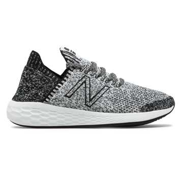 New Balance Fresh Foam Cruz SockFit, Black with White