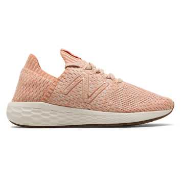 New Balance Fresh Foam Cruz SockFit, Phantom with Copper & Pink Mist