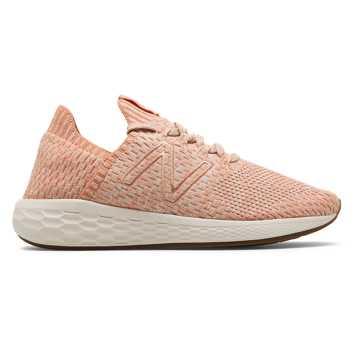 New Balance Fresh Foam Cruz SockFit, Phantom with Copper & Pink Mist