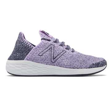 New Balance Fresh Foam Cruz SockFit, Dark Violet with Thunder & Arctic Fox