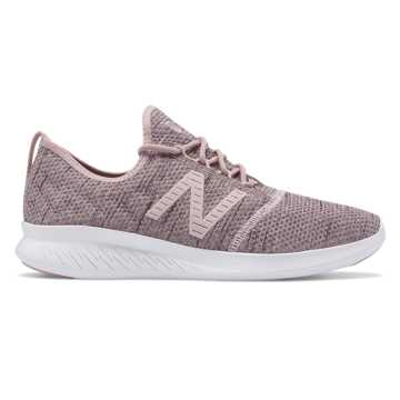 New Balance FuelCore Coast v4 Hoodie, Conch Shell with Himalayan Pink