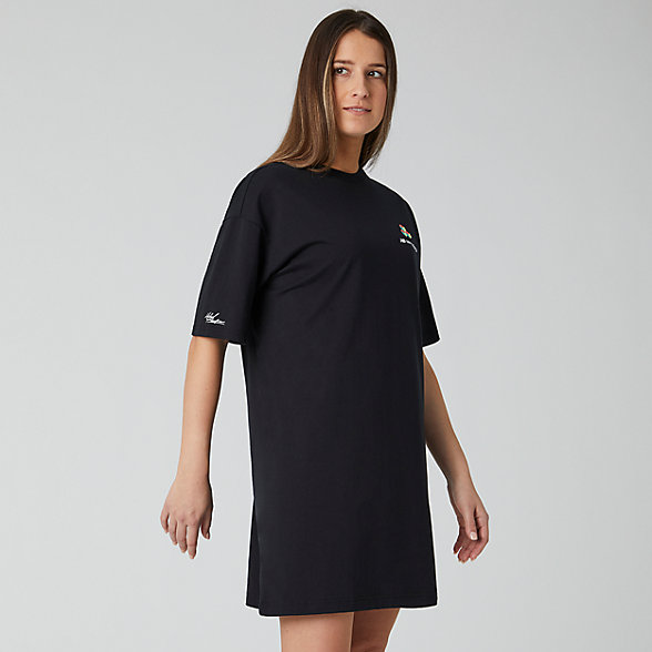 NB Sport Style Reeder Graphic T Dress , WD01505BK