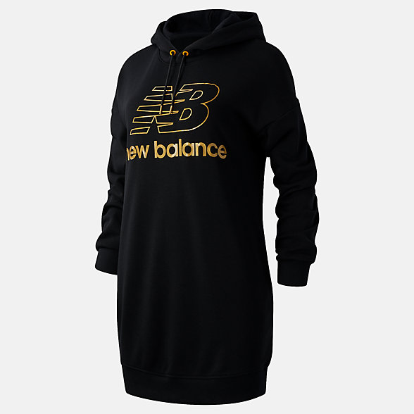 NB NB Athletics Village Hoodie Dress, WD03501BK