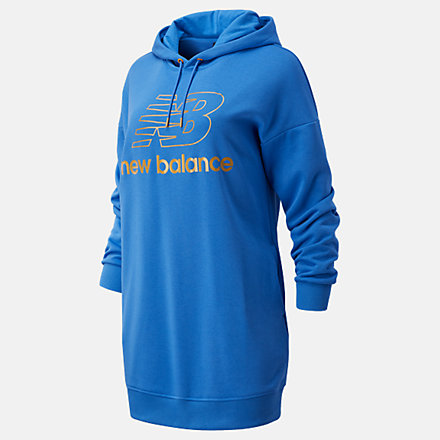 New Balance NB Athletics Village Hoodie Dress, WD03501FCB image number null