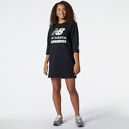 New Balance NB Essentials Field Day Crew Fleece Dress, WD11502BK image number null