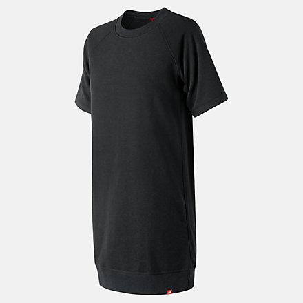 New Balance Essentials Aqua Camo Sweat Dress, WD91580BK image number null