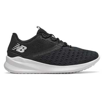 New Balance Cush+ District Run, Black with Magnet & Pearlized White