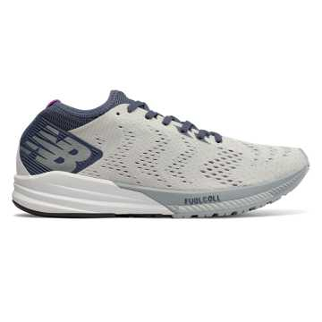 New Balance FuelCell Impulse, White with Voltage Violet & Light Cyclone