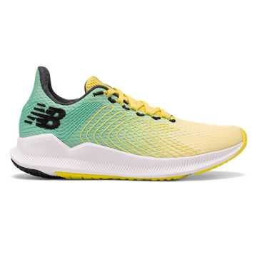 New Balance Women's FuelCell Propel, Sulphur Yellow with Neon Emerald & Black