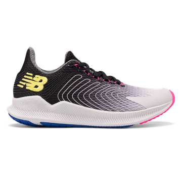 New Balance Women's FuelCell Propel, Summer Fog with Black & Sulphur Yellow