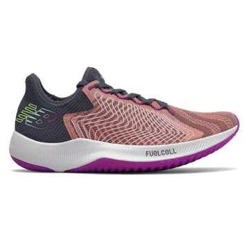 New Balance FuelCell Rebel 系列女款竞速跑步运动鞋, 浅粉色