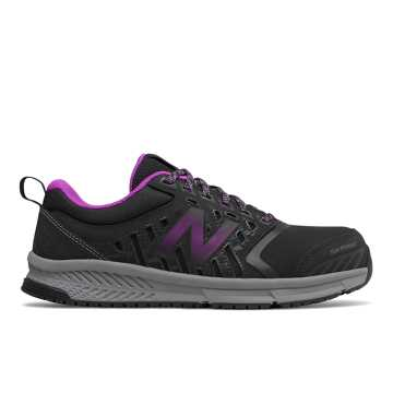 New Balance 412 Alloy Toe, Black with Purple