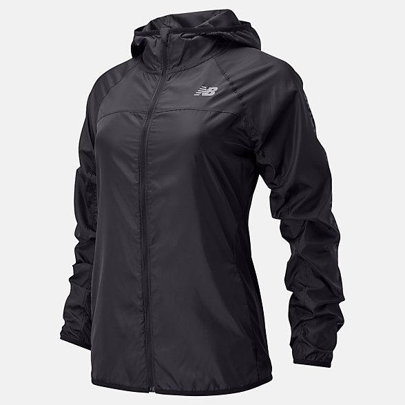 New Balance Accelerate Windcheater Reflective Jacket, WJ01216BK
