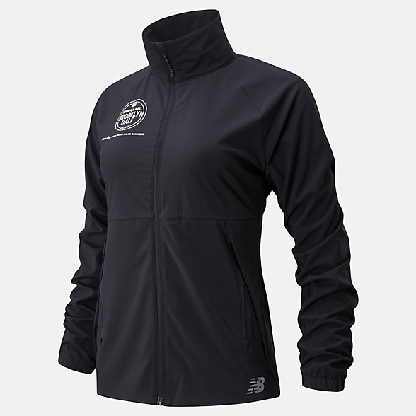 New Balance Popular Brooklyn Half Impact Run Jacket, WJ01236FBK