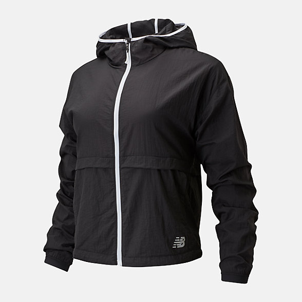 New Balance Impact Run Light Pack Jacket, WJ01237BK