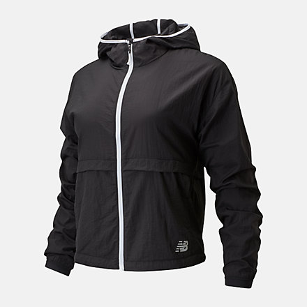New Balance Impact Run Light Pack Jacket, WJ01237BK image number null