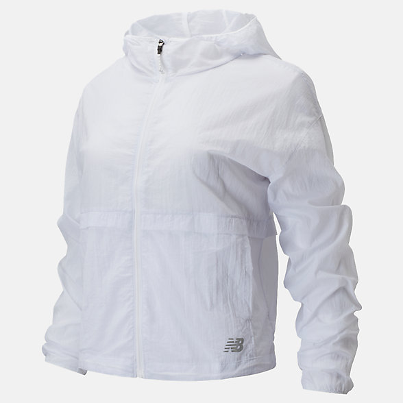 New Balance Impact Run Light Pack Jacket, WJ01237WT