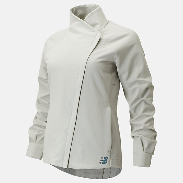 New Balance Q Speed Run Crew Jacket, WJ01262LFG